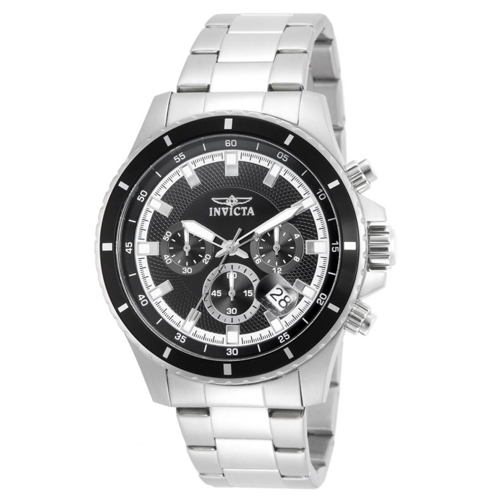 Chronograph   Stainless   Diver   Watch   Steel   Black   Dive   Men