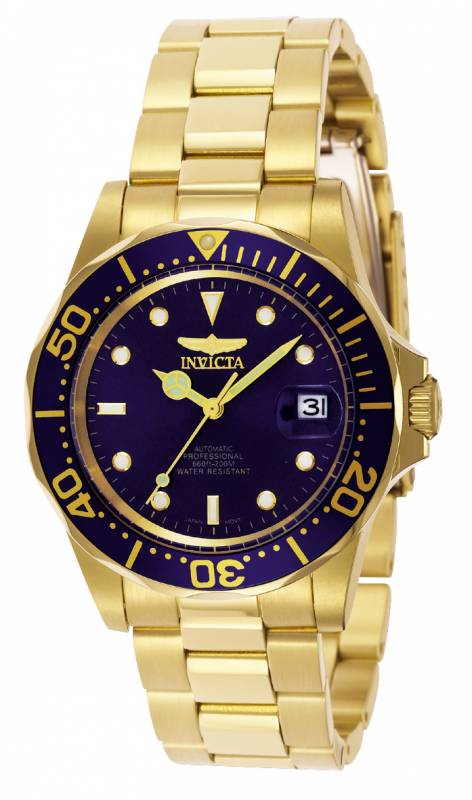 Bracelet | Diver | Watch | Steel | Dive | Gold | Blue | Men