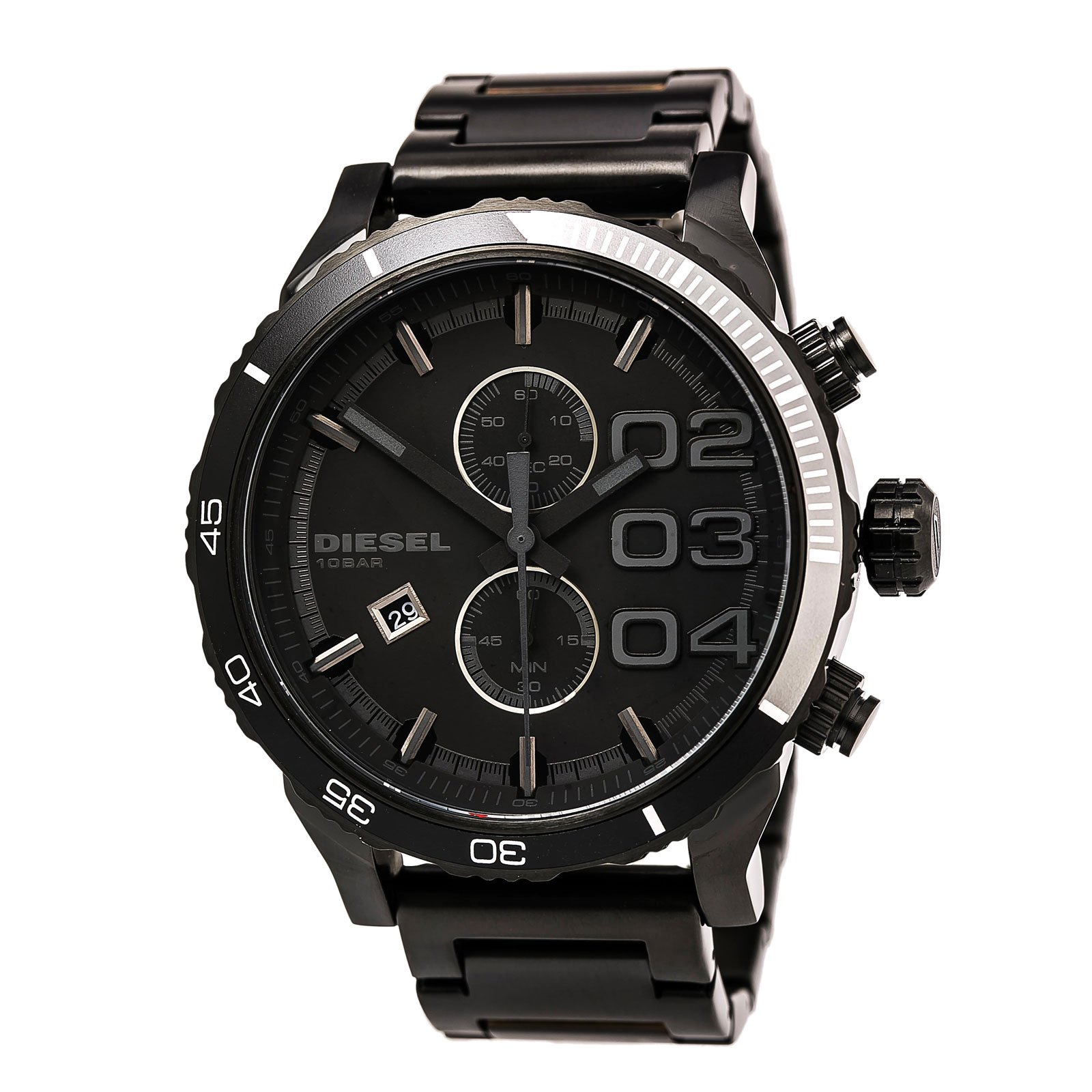 Chronograph | Bracelet | Double | Watch | Steel | Black | Men